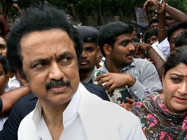 File image of DMK treasurer MK Stalin. PTI
