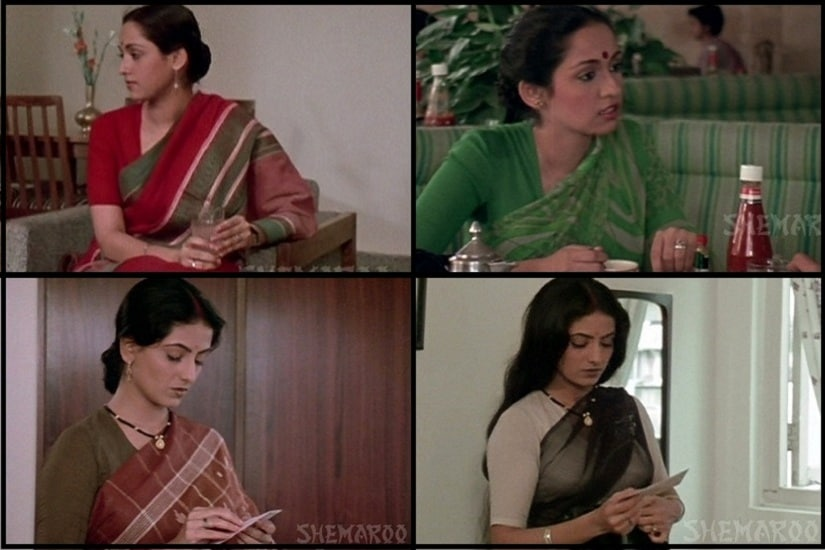 Wardrobe of a working woman. Image courtesy: Screengrabs from Vintage Indian Clothing.
