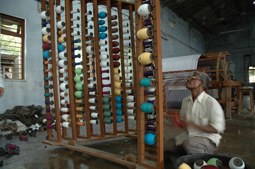 A weaver works at his loom in Maharashtra. File Photo/Image courtesy designer Shruti Sancheti