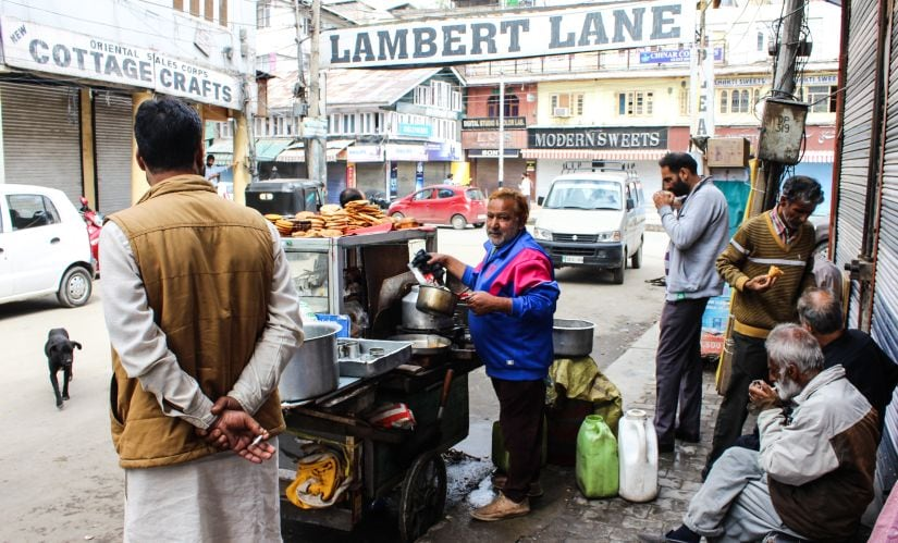 Mohammad Yousuf runs his tea stall at Lal Chowk Area in Srinagar as government lifted curfew in Kashmir after 52 days. Photo credit: Sameer Yasir