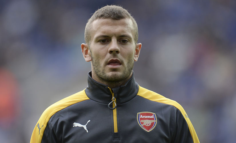 (FILES) This file photo taken on August 20, 2016 shows Arsenal's English midfielder Jack Wilshere warming up before the English Premier League football match between Leicester City and Arsenal at King Power Stadium in Leicester, central England. Jack Wilshere's fall from grace shows no sign of slowing as the Arsenal midfielder made a shock move to Bournemouth on a season-long loan on August 31, 2016. Wilshere was once regarded as one of the most promising youngsters in the Premier League, but Gunners manager Arsene Wenger has allowed the 24-year-old to leave the Emirates Stadium in a bid to revitalise his career. / AFP PHOTO / OLI SCARFF