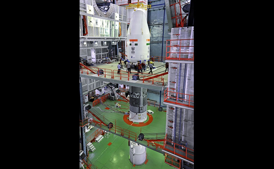 GSLV-F05 is the flight in which the indigenously developed Cryogenic Upper Stage (CUS) will be carried on-board for the fourth time during a GSLV flight. (Photo: Isro)