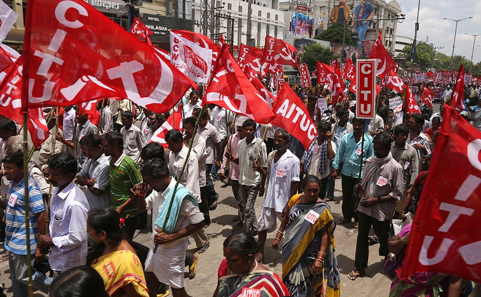 All public sector banks, private banks and offices of insurance companies like LIC remained closed. The state government offices and government schools remained open, but witnessed thin attendance in due to the nationwide strike. AP