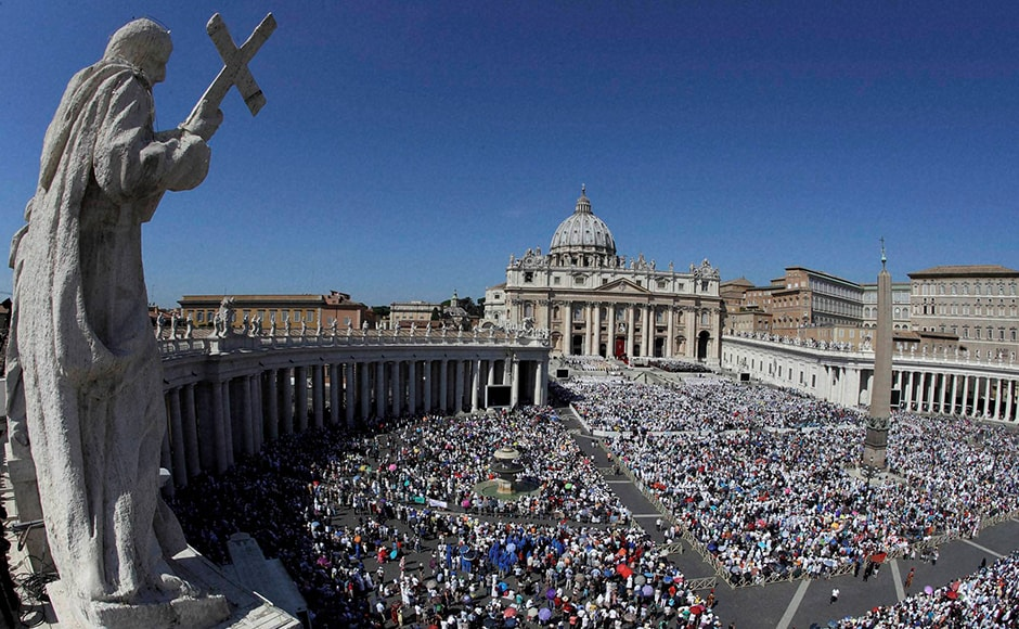 Tens of thousands of pilgrims - rich and poor, powerful and homeless - filled St. Peter's Square on Sunday for the canonisation of Mother Teresa, the tiny nun who cared for the world's most destitute and became an icon of a Catholic Church that goes to the peripheries to find lost souls. AP
