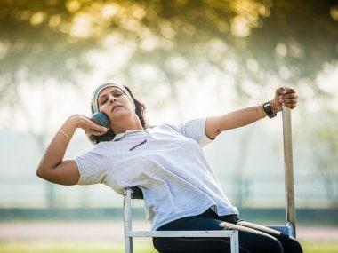 Deepa Malik in action. Image courtesy: Twitter/@IndiaSports