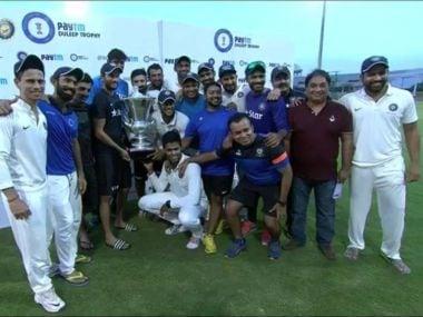 India Blue won the 2016 Duleep trophy. Twitter@GautamGambhir