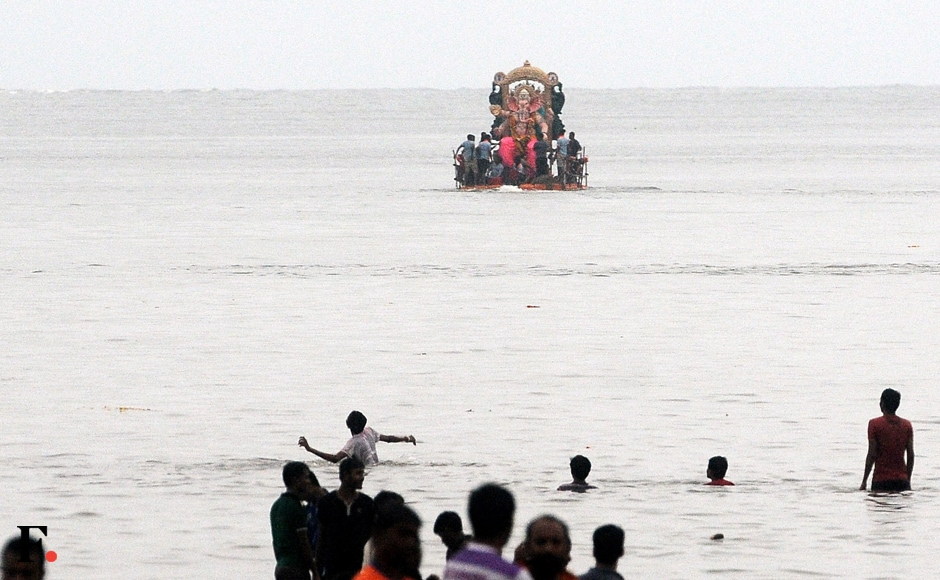 The popular immersion points for the large idols are the Arabian Sea, the Sanjay Gandhi National Park, the various beaches and creeks in Mumbai, scores of artificial water bodies created by the BMC for immersion, lakes, wells and ponds. Sachin Gokhale/Firstpost