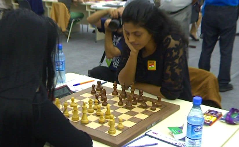 In the women's section, India suffered a reverse at the hands of the lower seeded Azerbaijan. Image Credit: V Saravanan/Firstpost