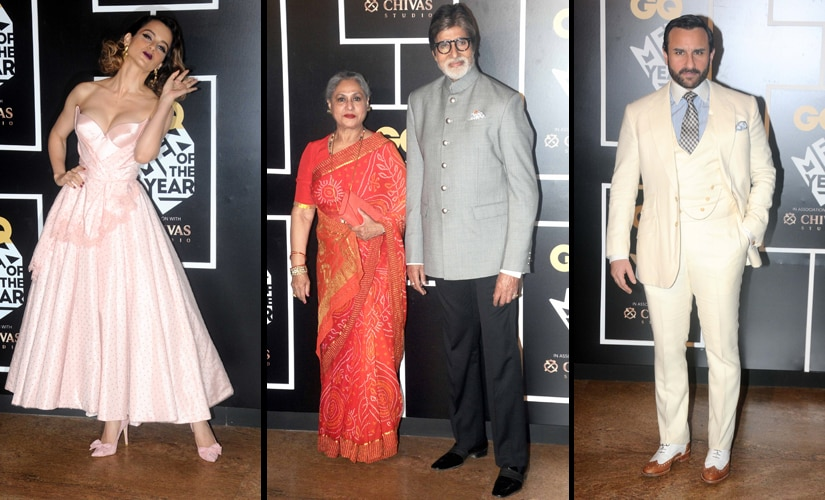 Kangana Ranaut, Amitabh Bachchan with wife Jaya, and Saif Ali Khan at GQ Awards/ Firstpost image/ Sachin Gokhale