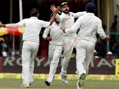 Indian Cricket team won the first Test match at Kanpur. PTI