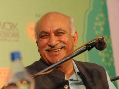 File photo of MJ Akbar. AFP