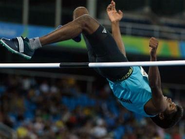 Mariyappan Thangavelu at the Rio Paralympics 2016. AFP