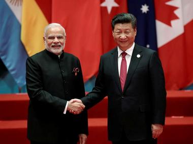 File image of Chinese president Xi Jinping and Indian prime minister Narendra Modi. Reuters