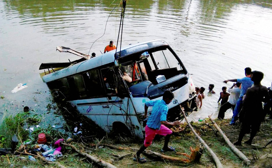 The private bus was on the way to Sitamarhi from Madhubani when the mishap took place on the state highway. PTI