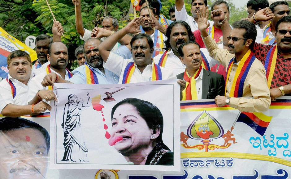 Protesters also mobbed and ransacked several government offices in Mandya forcing their shut down, while attendance at government offices remained thin. Photo: PTI