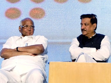 A file photo of Prithviraj Chavan and Sharad Pawar.