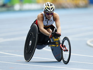 Belgian Paralympian Marieke Vervoort in action at the Rio Paralympics 2016. Reuters
