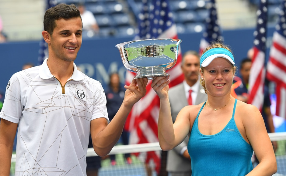 Laura Siegemund and Mate Pavic beat USA's Coco Vandeweghe and Rajeev Ram in the mixed doubles final to cap off a successful US Open 2016 tournament for the duo. Robert Deutsch/USA TODAY Sports