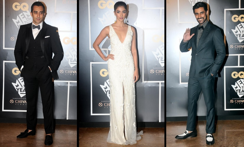 Rahul Khanna, Pooja Hegde and Kunal Kapoor pose for the shutterbugs/ Firstpost image/ Sachin Gokhale
