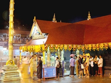 File image of the Sabarimala shrine in Kerala. Image courtesy ayyappaseva.org