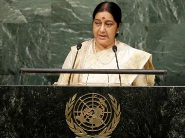 A file photo of Sushma Swaraj. PTI