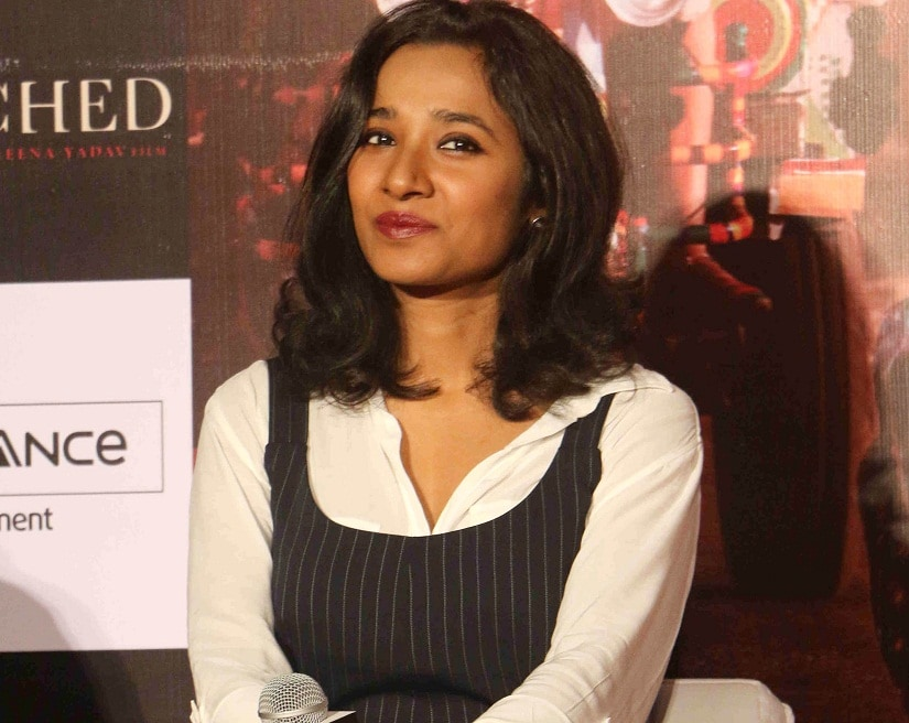 Tannishtha Chatterjee at a press conference for her latest release 'Parched'. Photo courtesy Solaris Images