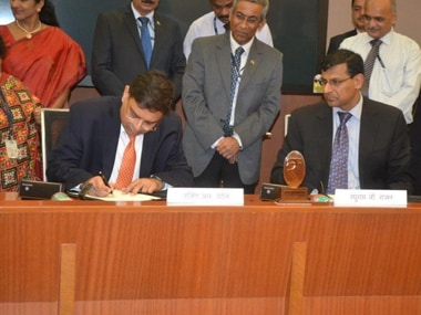 Urjit Patel taking over as RBI governor - RBI photo