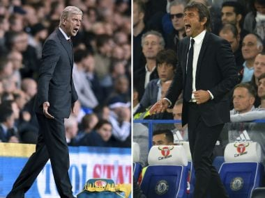 Chelsea's Antonio Conte and Arsenal's Arsene Wenger. AFP