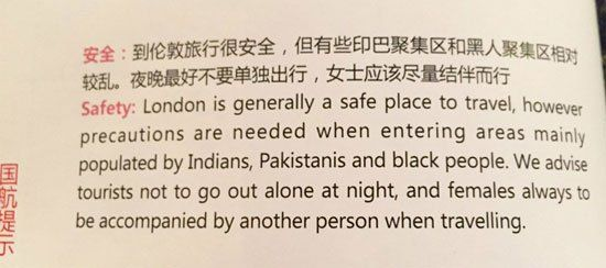 Editing mistake: Air China withdraws magazine with racist comments about Indians, Pakistanis and black people