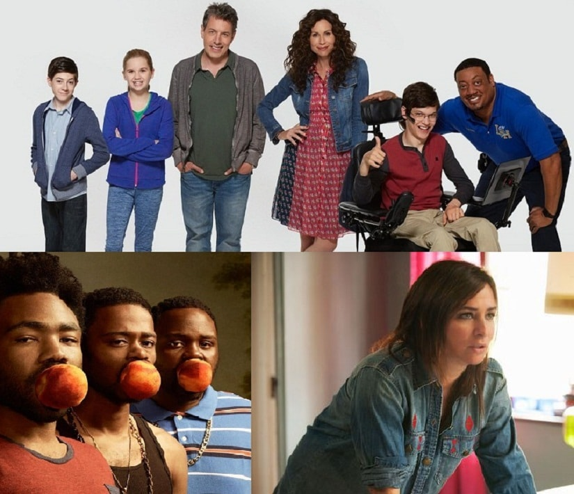 (Clockwise from top) 'Speechless', 'Better Things' and 'Atlanta' also get our votes in the must-watch comedy category