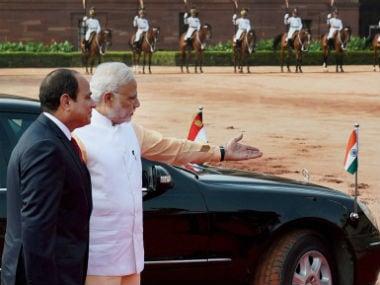 PM Modi with Egypt's President al-Sisi