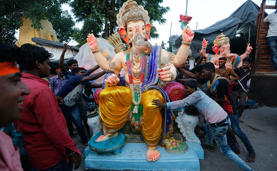 The 10-day festival is celebrated in most of the country. It begins with Ganesh Chaturthi -- also called Vinakaya Chaturthi in southern India -- the fourth day of the first fortnight of Hindu lunar month of Bhadrapada, and ends on Anant Chaturdashi, the 14th day of the same fortnight. AP