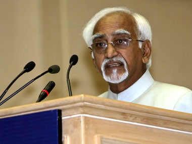 File photo of Hamid Ansari. Reuters