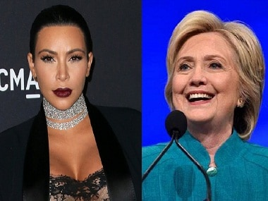 Kim Kardashian will be voting for Hillary Clinton in the upcoming US Presidential elections. Images from Getty, News 18
