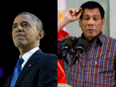 File image of US President Obama and Philippines' President Duterte.