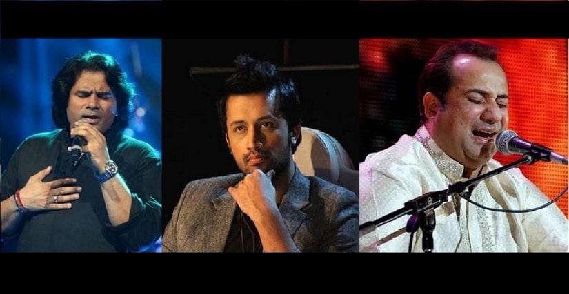 (L-R) Shafqat Amanat Ali; Atif Aslam; Rahat Fateh Ali Khan. All images courtesy News 18
