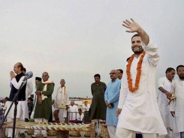 Congress vice-president Rahul Gandhi in Uttar Pradesh. PTI