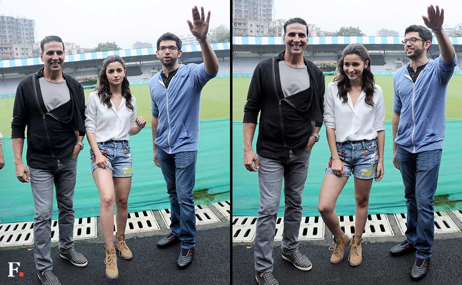Akshay Kumar, Alia Bhatt, Aditya Thackeray — putting their best foot forward. Sachin Gokhale/Firstpost