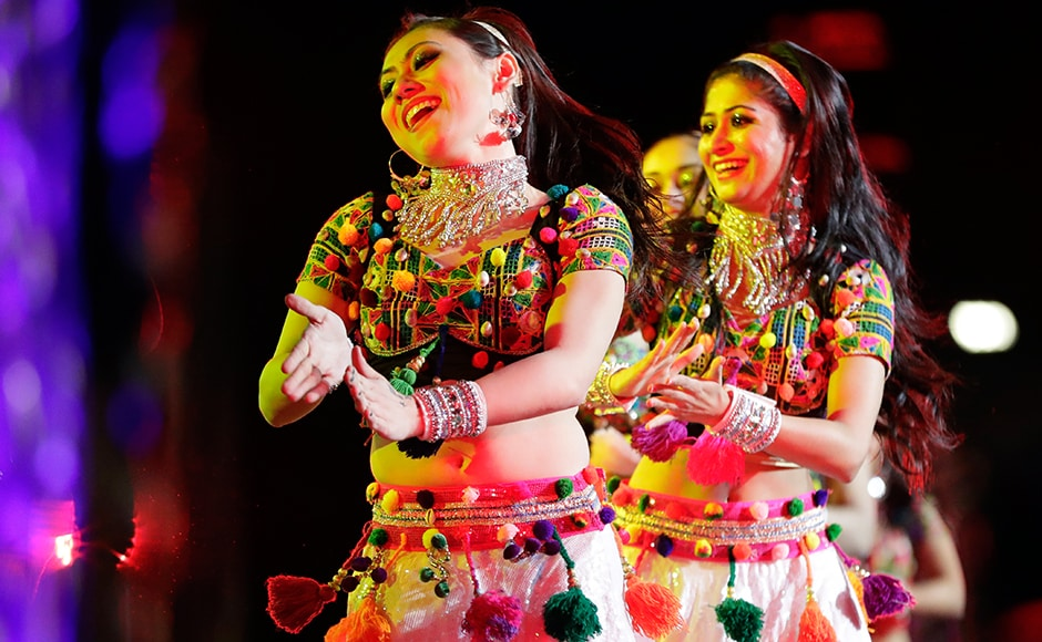 Dancers perform during a charity event hosted by the Republican Hindu Coalition on Saturday in Edison, New Jersey. AP