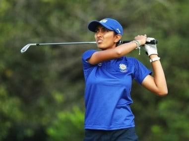 File photo of Aditi Ashok of India. Getty