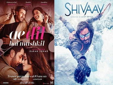 Ae Dil Hai Mushkil vs Shivaay: Phenomenal advance booking for both, claim trade analysts