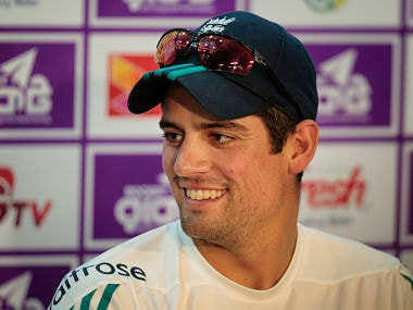 England's captain Alastair Cook attends a press conference ahead of the second Test match against Bangladesh. AP