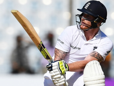 Ben Stokes impressed with both bat and ball as England defeated Bangladesh. AFP