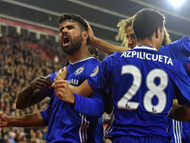 Diego Costa scored a sublime goal to help Chelsea to a 2-0 win over Southampton. AFP