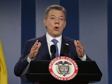 File photo of Colombian President Juan Manuel Santos. AP
