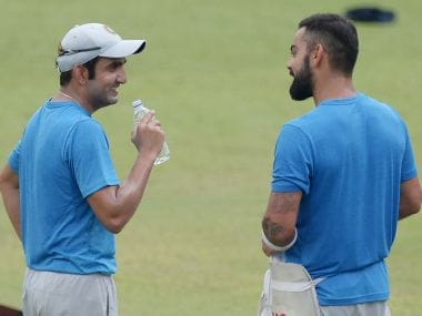File photo of Gautam Gambhir and Virat Kohli. AFP