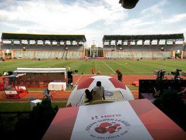 Indira Gandhi Athletics Stadium in Guwahati is all set for the first kick-off in the ISL. Twitter@NaothEastUnited