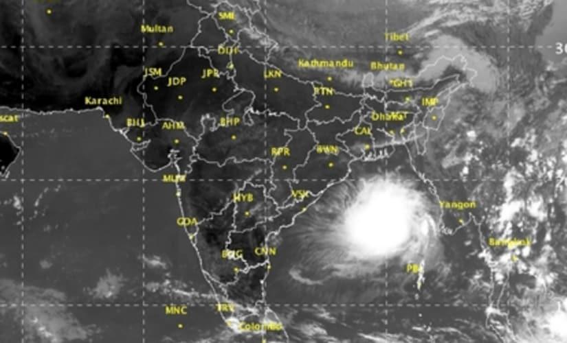 Latest satellite image of the brewing storm. Image Courtesy: IMD