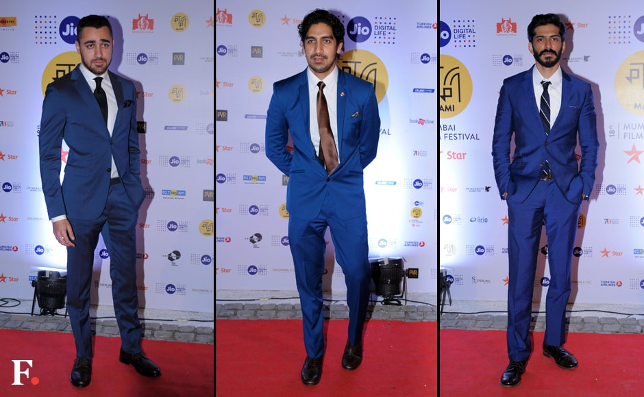 Jio MAMI 18th Mumbai Film Festival with Star opened with a bang on Thursday. Posing on the Red Carpet are Imran Khan, Ayan Mukherjee and Harshvardhan Kapoor. Sachin Gokhale/Firstpost