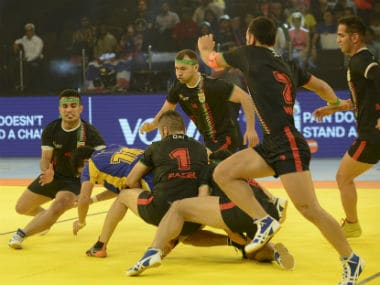 Iran players in action during their match against Thailand. AFP